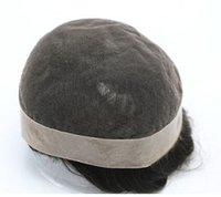 Wholesale SGS Best quality man s toupee indian human hair