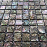 Wholesale Abalone shell green mosaic tile kitchen backsplash tiles mother of pearl mosaic tiles green abalone mosaic backsplash tile