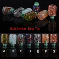 amber arts - 510 Amber Drip Tip eGo Art Drip Tips Glass Drip Tip For CE4 CE5 MOD Mini Protank E Cig Tannks