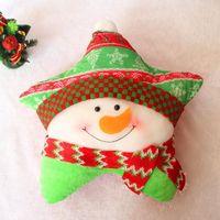Wholesale Christmas Star Pillows Indoor Decoration Santa Claus Snowman Reindeer Gift Supplies Stage Set Prop Children Toys Party Decorat