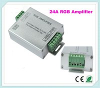 Wholesale 10pcs LED RGB Signal Amplifier Professional input V V A For RGB Led Strip light with Common Anode Guaranteed
