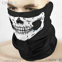 halloween skeleton - New Halloween Skull Half Face Skeleton Ski Motorcycle Biker Paintball Mask Scarf
