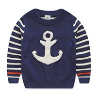 anchor blue sweaters - Anchor baby sweater fall and winter clothes new children s clothing Boys striped sweater