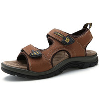 Wholesale New crime sandals camel leather leather sandals summer outdoor leisure man leather shoes