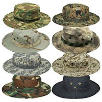 Wholesale Top Quality Thicken MULTICAM HAT ARMY BOONIE HAT Military Camouflage Bucket Hats Hunting Hiking Fishing Climbing Camping H15c1