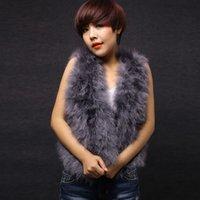 Wholesale 120205119 New Real turkey fur vest waistcoat jacket stylish puff fur vest popular shipping free colors