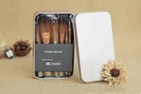 Wholesale Makeup Brushes Nude3 Pieces Professional Cosmetic Brush Sets Makeup Brushes Sets with Iron Box