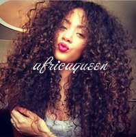 human hair afro wigs - Africaqueen Kinky Curly Wigs For Black Women Glueless Lace Front Human Hair Wigs Human Hair Afro Kinky Curly Wigs For Sale Natural Black