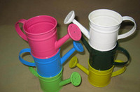 garden pot holder - 25pcs Multicolour Metal Mini Watering Can Buckets Garden Tool Discount Miniature Keg Flower Pot Holder