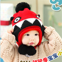 Cheap Baby Cap Kid Skull Cap Infant Hats Fashion Hand Knitted Caps Boys Girls Wool Cap Baby Crochet Beanie Hat 100PCS DHL free