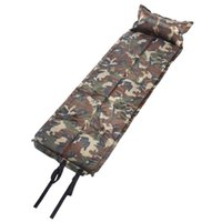 air inflated tents - 185 cm Camouflage Automatic Inflatable Self Inflating Dampproof Sleeping Pad Tent Air Mat Mattress Pillow for Camping Y1820