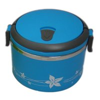 Wholesale New Stainless Steel Vacuum L Round Lunch Box Big Crisp Kids Keep Warm Food L Container For School Office Bento Box