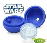 Wholesale Death star wars Silicone Ice Tray Cube Mold Maker Ice ball Mould bar party freezing