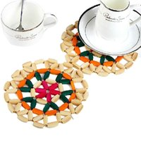 best coffee tables - Hot Salw Best seller New Cute Elegant Wooden Exquisite Bamboo Mat Insulation Table Mat Coffee Coaster Prevent Hot Cup Hurt Desk Surface