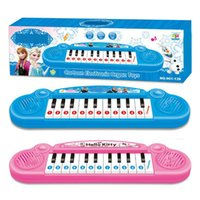 Wholesale Musical instruments toy for Frozen girl Cartoon electronic organ toy keyboard electronic baby piano with music songs
