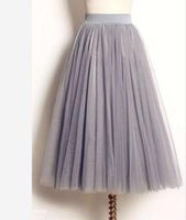 best busts - 3 Layers Puffy Skirts for Women Knee Length Best Selling Fashion Dresses tutu Dress Tulle Skirts White Black Grey Gauze Skirt Bust