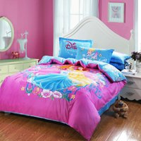 Wholesale Three princess queen size bedding set cotton fashion printed duvet cover set promotion new coming