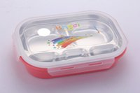 Wholesale Popular food grade really stainless steel detachable snack box heat resisting lunch box lovely cartoon Bento food container a
