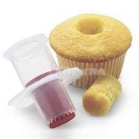 Wholesale 2014 Brand New Practical Eco Friendly Cake Tools Cupcake Plunger Cutter novetly DIY Cake Corer Decorating Divider