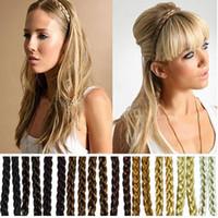 arrival hair braids - New Arrivals Hair Accessories Synthetic Hair Band Plaited Plait Elastic Bohemia Braids Headband Hairband fx36