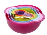 Wholesale NEW Multi function rainbow kitchen tools sets Measuring spoon Bowl Mixing bowl Basin Creative kitchen utensils cooking tools