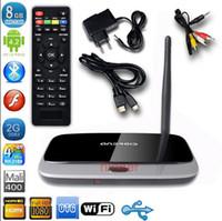 Wholesale New Hot WIFI Android TV Box Player CS918 Quad Core Media Player GB GB GB GB IPTV Set Top Box with Remote Control US EU UK Plug DHL