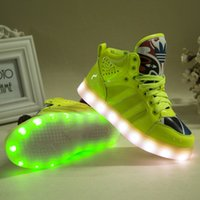Cheap The new LED light shoes boys girls Sports shoes Children shoes