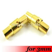 Cheap Free Ship! 200PCS For 3mm Leather Cord End Cap Stopper Gold Plated Metal Magnetic Clasp Clousure Jewelry Fasteners Buckle