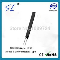 Al por mayor-Calefacción cable 230V 10MM 25W / M 65 C Calentador de Agua Pipe / Azotea Fuera Tamaño normal estándar Para el hogar Gardon