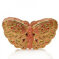 Wholesale Most expected butterfly shaped crystal clutch handmade Judith Leiber Evening Purse S08118