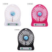 Wholesale Portable Mini USB Cooling Fan Rechargeable DC V for Desk Laptop Notebook Computer Adjustable Speed C2083