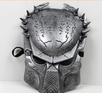 Wholesale Cosplay Halloween Horror Mask Iron Man AVP Costume Party Masks Supper Alien Vs Predator Mask Warrior Prop AVPR Soldier Mask