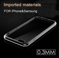 Wholesale iphone case luxury iPhone plus S Samsung Galaxy S6 S5 A7 A5 E7 Crystal Transparent mm TPU Silicone Soft Cover