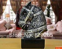Cheap Free shipping new arrival horse year black European style resin horse, house decorative items or gifts to friends