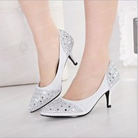in style shoes - In Stock Silver Black Champagne Rhinestones Low Heel Wedding Shoes New Style Fashion Crystals Bridal Shoes Beads