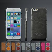 Wholesale iPhone6 leather protective sleeve Apple phone shell PU card iphone6 oil wax pattern can holster