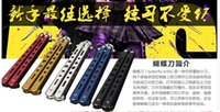 aluminum practice knife - new American butterfly knife training exercises Comb butterfly knife practice