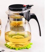 tea sets wholesale - Promotion ml Glass Teapot Clear Glass Filter Tea Cup Travel Decorative Heated Glass Flower Tea Pots Choice Tea Set