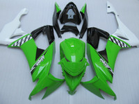 Wholesale Green white blk Fairing kit for KAWASAKI Ninja ZX10R ZX R ZX R zx10r Motorcycle Fairings bodywork gifts KQ79