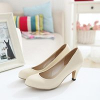 nude pumps - ENMAYER round toe women pumps concise solid nude pumps for ladies simple style shoes for office women size