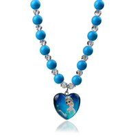 jewelry china - 2015 Fashion Frozen Blue Necklace Elsa Bead Accessories Acrylic Plastic off Frozen Jewelry China Yiwu Made Free Drop Shipping