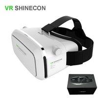 Wholesale Google Cardboard VR Box Shinecon Smartphone Headset D Virtual Reality Glasses Helmet Oculus Rift DK2 Head Mount VR BOX package