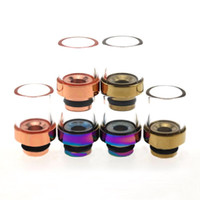 bearing housing fit - Pyrex Glass Muffler Wide Bore Drip Tips Fit E House CE4 CE5 EVOD Clearomizer Stainless Steel Rainbow E Cigarette Mouthpiece