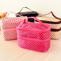 Wholesale New Arrived Fashion Cosmetic Bag Lady Girl s Lovely Waterproof Cosmetic Cases Beauty Bag Wash Bag Beauty Cosmetic Bags Multi Color Random
