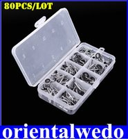 fishing rod guide - 80Pcs Fishing Rod Guide Guides Tip Set Repair Kit DIY Eye Rings Different Size Stainless Steel Frames with Fish Box