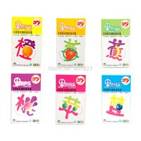 banana condoms - Sexy Toys Different Flavours Peach Apple Strawberry Blueberry Banana Orange mm Ultrathin Natural Rubber Condoms for Male
