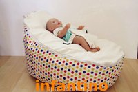 Wholesale 2015 baby bean bag chairs bulk for Babies Sprinkles white or pink seat for your option
