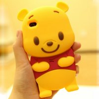 winnie the pooh s4 - 3D Cute cartoon Winnie silicone case cover for iphone s s s plus Winnie the Pooh rubber case for Samsung S3 S4 S5 S6 Note Note
