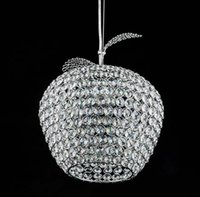 Cheap 2014 Brand New Creative Novelty items Apple LED chandelier D28cm clear crystal chandeliers LED Silver pendant lamps GY-DD-A0001