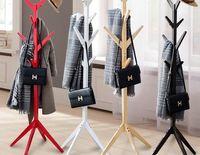 Wholesale Trojan simple solid wood falls hatstand lichens children s fashion clothes rack rack storage room